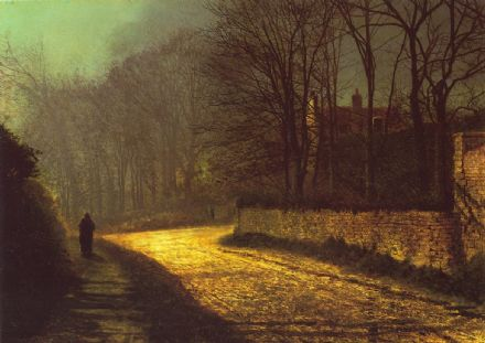 Grimshaw, John Atkinson: The Lovers. Fine Art Print/Poster. Sizes: A4/A3/A2/A1 (001734)